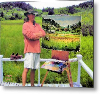 Monhegan Meadow Metal Print