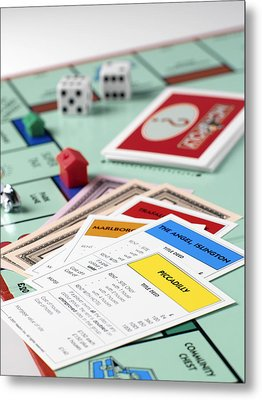 Monopoly Board Game Metal Print by Tek Image
