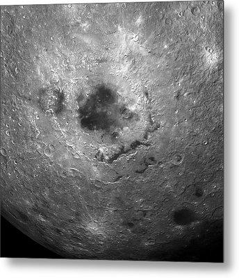 Moon's Surface Metal Print by Detlev Van Ravenswaay