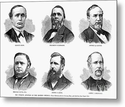Mormon Apostles, 1877 Metal Print by Granger