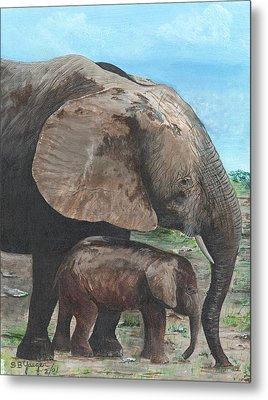 Mother Love Metal Print by Stuart B Yaeger