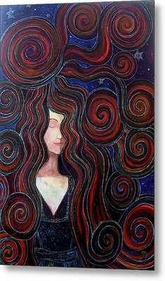 Metal Print featuring the painting Mother Night by Monica Furlow