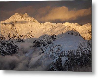 Mount Rolleston At Dawn Arthurs Pass Np Metal Print by Colin Monteath