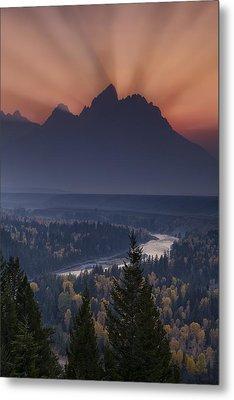 Mountain Sunset Metal Print by Andrew Soundarajan