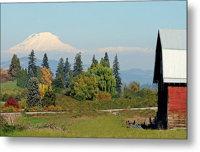 Mt. Adams In The Country Metal Print by Athena Mckinzie