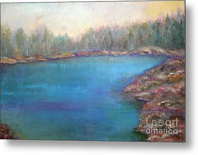 Muskoka Shore Metal Print by Claire Bull