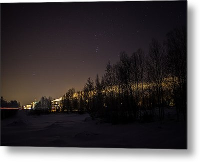 Metal Print featuring the photograph My City Under Orion by Matti Ollikainen