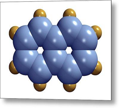 Naphthalene Molecule Metal Print by Dr Mark J. Winter