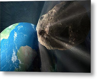 Near-earth Asteroid, Artwork Metal Print by Henning Dalhoff
