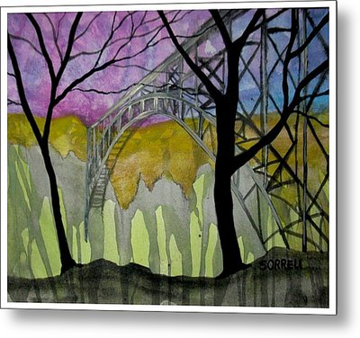 New River George Bridge Metal Print by Amy Sorrell
