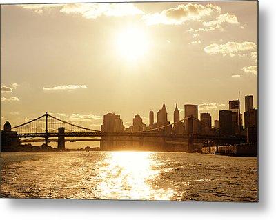 New York City Sunset Metal Print by Vivienne Gucwa