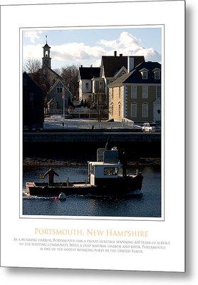Nh Working Harbor Metal Print by Jim McDonald Photography