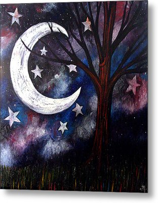 Metal Print featuring the painting Night Gazing by Monica Furlow