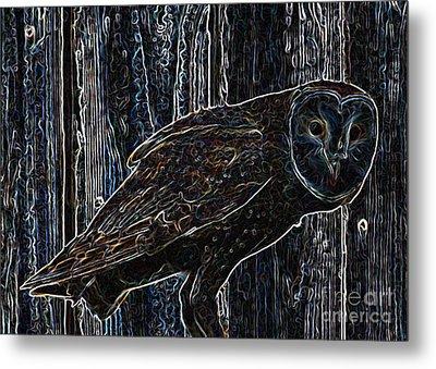 Night Owl - Digital Art Metal Print by Carol Groenen
