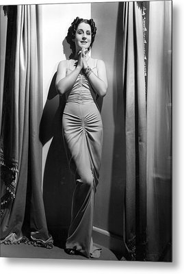 Norma Shearer, Mgm Photograph Metal Print by Everett