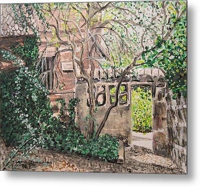 Nuremberg Castle Garden Metal Print by Sharon  De Vore