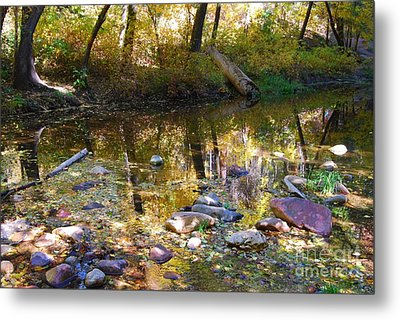 Metal Print featuring the photograph Oak Creek Reflection by Tam Ryan