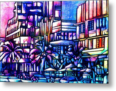 Ocean Drive Metal Print by Giuliano Cavallo