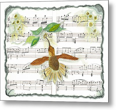 1 Of 2 - Natures Symphony-the Conductor Metal Print by Joy Braverman