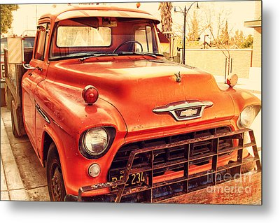 Old American Chevy Chevrolet Truck . 7d10669 Metal Print by Wingsdomain Art and Photography