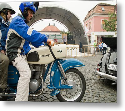 Old Motorcycle Metal Print by Odon Czintos