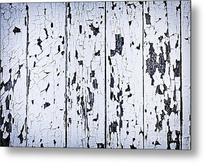 Old Painted Wood Abstract Metal Print