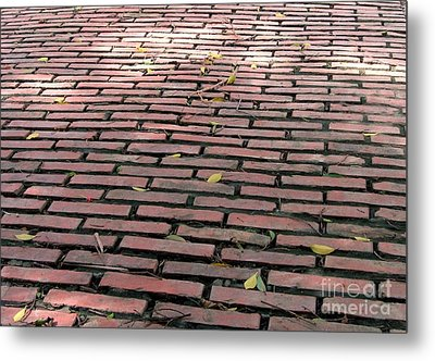 Old Red Brick Road Metal Print by Yali Shi