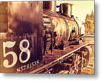 Old Steam Locomotive Engine 1258 . 7d10467 Metal Print by Wingsdomain Art and Photography