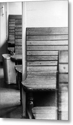 Old Train Compartment Metal Print by Falko Follert