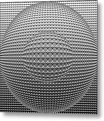 Optical Illusion Circle In Circle Metal Print by Sumit Mehndiratta