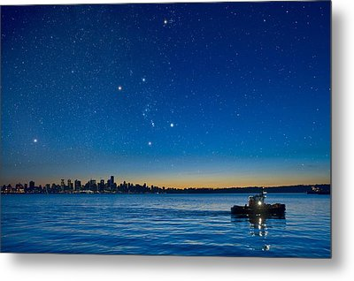 Orion Over Vancouver, Canada Metal Print by David Nunuk