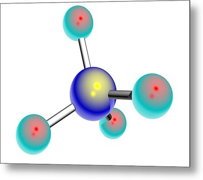 Osmium Tetroxide Molecule Metal Print