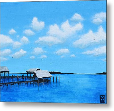 Out To Sea Metal Print by Holly Donohoe