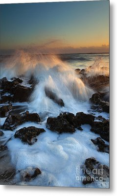 Over The Rocks Metal Print by Mike  Dawson