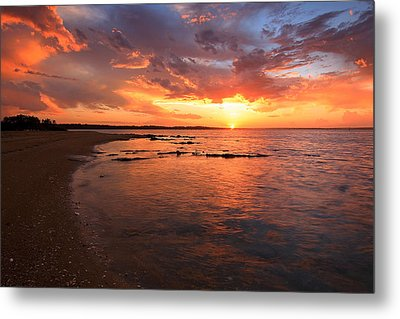 Oyster Cove Sunset Metal Print