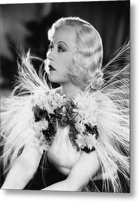 Page Miss Glory, Marion Davies, 1935 Metal Print by Everett