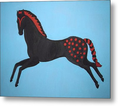 Painted Pony Metal Print by Stephanie Moore