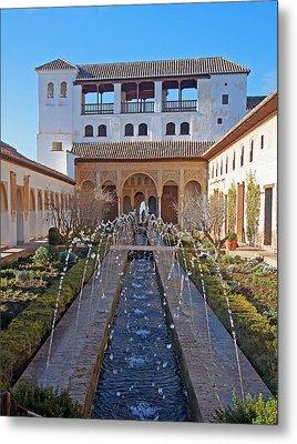 Palace Of The Generalife Metal Print
