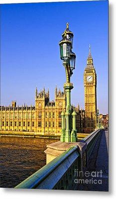 Palace Of Westminster From Bridge Metal Print by Elena Elisseeva