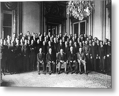 Paris Peace Conference Metal Print by Granger
