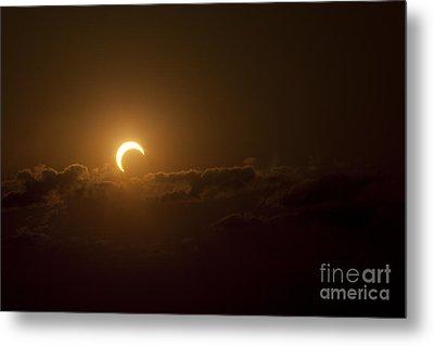 Partial Solar Eclipse Metal Print by Phillip Jones