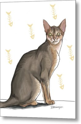 Pastel Cat Metal Print by Mario Domingues