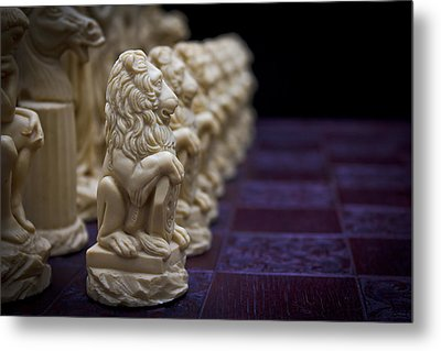 Pawns In A Row Metal Print by Doug Long