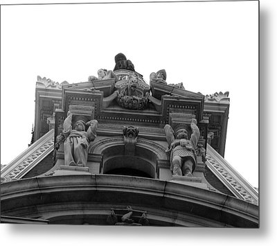 Philadelphia City Hall Looking Up Metal Print by Bill Cannon