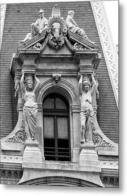 Philadelphia City Hall Window Metal Print by Bill Cannon