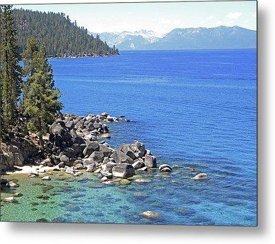 Pines Boulders And Crystal Waters Of Lake Tahoe Metal Print by Frank Wilson