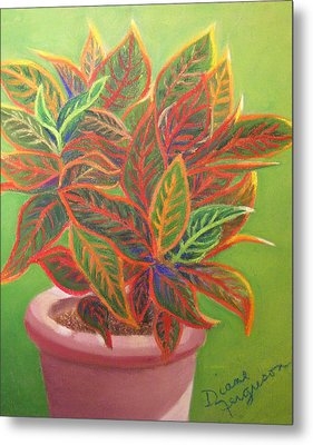 Metal Print featuring the pastel Plant Portrait I by Diane Ferguson