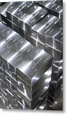 Platinum Bars Metal Print by Ria Novosti