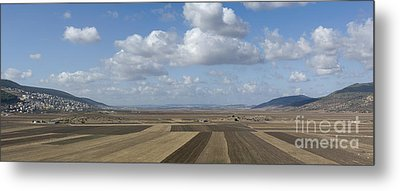 Plowed Agricultural Fields In The Beit Netofa Valley Metal Print by Noam Armonn