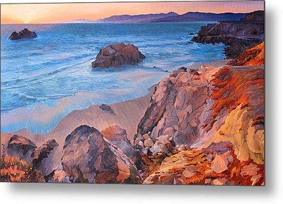 Point Lobos At San Francisco Metal Print